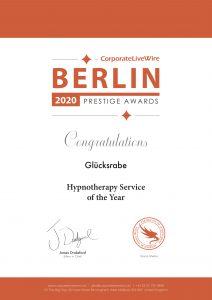 Hypnotherapie Award Peter Christian Rabeneck